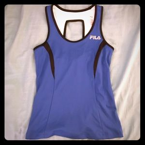 Royal blue FILA athletic tank with great details